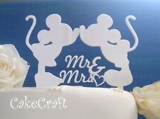 Acrylic  Mr&Mrs Mickey Minnie Mouse Wedding, anniversary cake topper decoration
