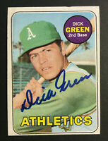 Dick Green A's Athletics signed 1969 Topps baseball card #515 Auto Autograph