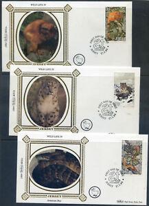 Jersey 1984 Wildlife Preservation Trust set of 6 silk covers (2020/04/21#03)