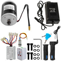 250W 24V DC Motor Electric Brush Motor Kit 5PCS Go-kart Wrench Brush Motor
