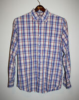 Mens PETER MILLAR Indigo Weekender Wash Long Sleeve Button Down Shirt Medium M