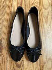 Forever 21 Black Shiny Faux Patent Leather Ballet Shoes Flats US 8.5 EU 39.5