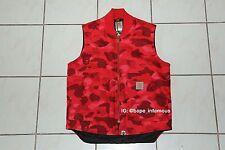 2006 A bathing Ape BAPE x Carhartt Red Camo Vest Size MEDIUM SHARK GRAIL NIGO