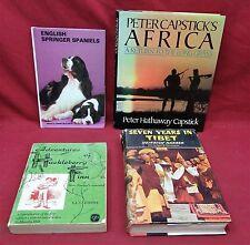 4 Book Lot- Peter Capstick's Africa/Adv. of Huck Finn./7 years in Tibet/Eng Spr.