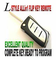 L-KEY STYLE FLIP remote for Audi 4D0837231P chip fob keyless ENTRY CLICKER ALARM