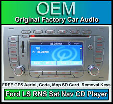 Ford S-Max Sat Nav CD player, Silver Ford LS RNS car stereo radio + Map SD Card