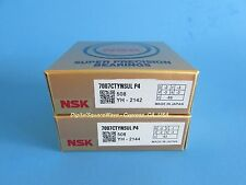 NSK 7007CTYNSULP4 ABEC-7 Precision Angular Contact Bearing. Matched Set of Two