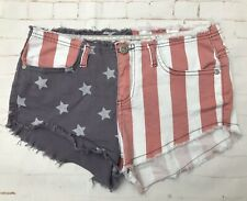 SoulCal & co Hotpants Shorts American Flag Size 10 Festival Blogger Style