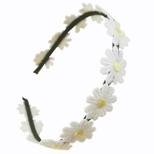Women White Rim Daisy Elastic Headband Headwear Flower New Accessory Hair O6I7