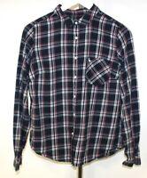 Jack Wills Women's Blue Pink Check Long Sleeve Shirt Size UK 12 .H4