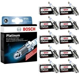 10 pcs Bosch Platinum Spark Plugs For 2013-2014 SRT VIPER V10-8.4 L