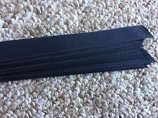 Grosgrain Hat Band Pony Tail Hair Band Craft Ribbon Pkg 25 Straight Edge - Black