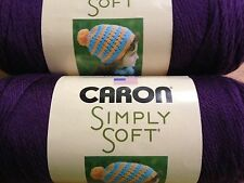 Caron Simply Soft Yarn   PLUM PERFECT     Lot of 2  Acrylic