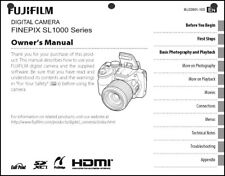 FujiFilm FinePix SL-1000 Digital Camera User Guide Instruction  Manual