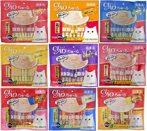 INABA CIAO Churu Liquid Cat Treats 14 g × 20 Sticks Made in Japan NEW