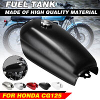 Motorcycle 9L 2.4GALLON Fuel Gas Tank Cover Set Universal For Honda CG125 Cafe