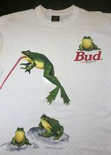 Vintage Mens XL 1995 90s Budweiser Beer Frogs Funny TV Advertising White T-Shirt