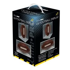 Football Display Case UV PROTECTED W/ CRADLE Square Ball Holder Ultra Pro NEW
