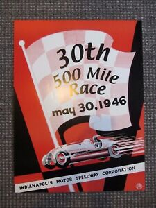 1946 INDIANAPOLIS 500 RACE PROMO POSTER INDY CAR IRL CART USAC Robson win RACING