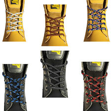 STRONG UNISEX SHOELACES BOOT LACES IN 4 LENGTHS WORK BOOTS STEEL TOE BOOTS SHOES