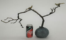 Hi End Two Love Bird with Flowers on a Tree Branch LTD Edition By Aldo Vitaleh