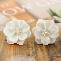 Fashion Elegant Camellia Flowers Ear Stud Earrings Women Charms Jewelry Gifts