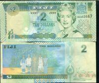 FIJI 2 DOLLARS 2002 QE II P 104 UNC
