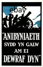 WW1 RECRUITING POSTER BRITISH ARMY RECRUITING WELSH LANGUAGE NEW A4 PRINT