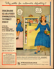1960 vintage kitchen appliance Ad, FRIGIDAIRE, Frost Proof Refrigerator  -102313