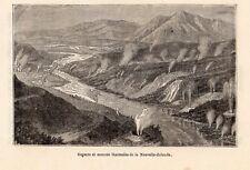 GEYSERS NOUVELLE ZELANDE NEW ZEALAND IMAGE 1886 ENGRAVING