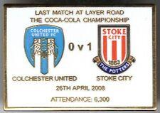 2008 Colchester United (Utd) v Stoke City ~ Last match at Layer Road