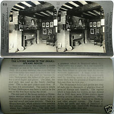 Keystone Stereoview SHAKESPEAR's Living Room, ENGLAND of 600/1200 Card Set #207