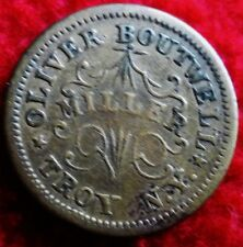 Brass Civil War Token -1863 - Store Card - Oliver Boutique -Troy,Ny Abt Xf
