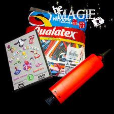 Lot 100 BALLONS qualatex + POMPE + DVD - Sculpture sur ballons - magie