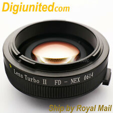 Zhongyi Lens Turbo II Reducer Booster Canon FD to Sony E Adapter NEX 7 5T A6000