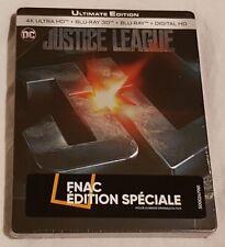 JUSTICE LEAGUE BLURAY VF 4K 3D 2D STEELBOOK FNAC NEUF