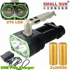 5000LM 2xCREE XML T6 LED TACTICAL USB RECHARGEABLE FLASHLIGHT TORCH LAMP 2x26650