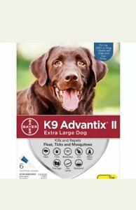 K9 Advantix II Flea & Tick Treatment for Extra Large Dogs Over 55 lbs - 6 DOSES