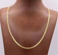 3mm All Shiny Bizmark Bismark Chain Necklace Real 10K Yellow Gold