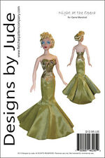 "Opera Doll Clothes Sewing Pattern for 15.5"" Gene Marshall Dolls Ashton Drake"