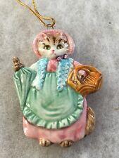 New ListingVintage Schmid Beatrix Potter Fw Cat Mrs Ribby Christmas Ornament