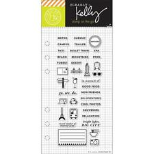 HERO ARTS Kelly Purkey Clear Stamps KELLY'S ADVENTURE PLANNER  CL932
