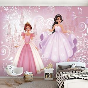FOTOTAPETE Tapete XXL Prinzessin Kinderzimmer Mädchen Für Kinder Schloss 82
