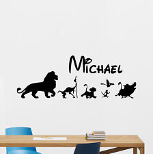 Personalized Name Lion King Wall Decal Custom Vinyl Sticker Disney Decor 199crt