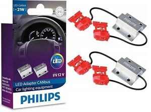 Philips LED Load Equalizer Resistor 1156 Front Turn Signal Hyper Flash Fix Error