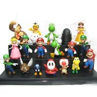 """Game Super Mario Brothers: Set of 18x 2"""" Mini Action Figures PVC Dolls Toys Gift"""