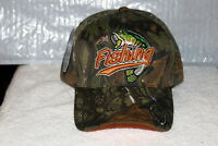 FISHING FISH HOOK OUTDOOR FISHERMAN BASEBALL CAP HAT ( CAMOUFLAGE )