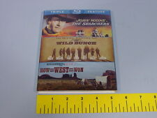 John Wayne The Searchers-The Wild Bunch-How the West Was Won [3 Discs] [Blu-ray]