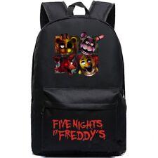 Five Nights At Freddy's Chica Foxy Freddy Bonnie Black ShoulderBag FNAF Backpack