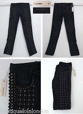 NWT Diesel Black Gold Label Studded With Leather Trim Denim Jeans W 26 L 34